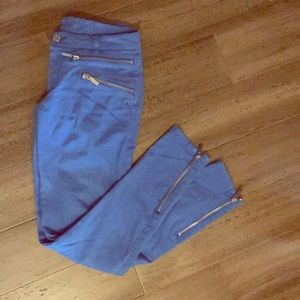 Michael Kors Jeans - Michael Kors electric blue zipper jeans sz 0